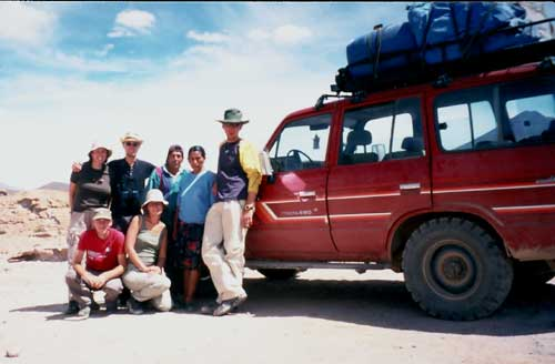 Bolivia: Tour Tupiza - Uyuni. Our Group.