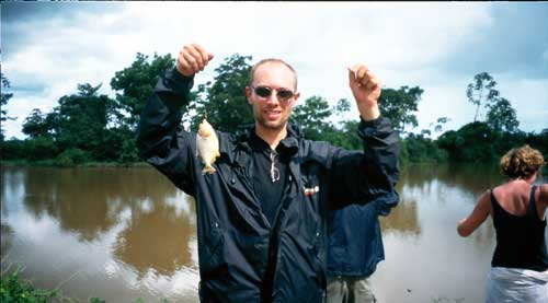 Bolivia, Rurrenabarque, Pampa Tour: Piranha Fishing
