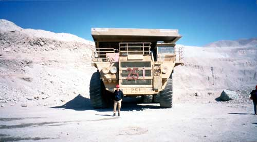 Chile, Chuquicamata: Big truck