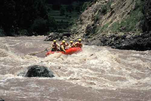 Peru, Cusco: Rafting on Urubamba
